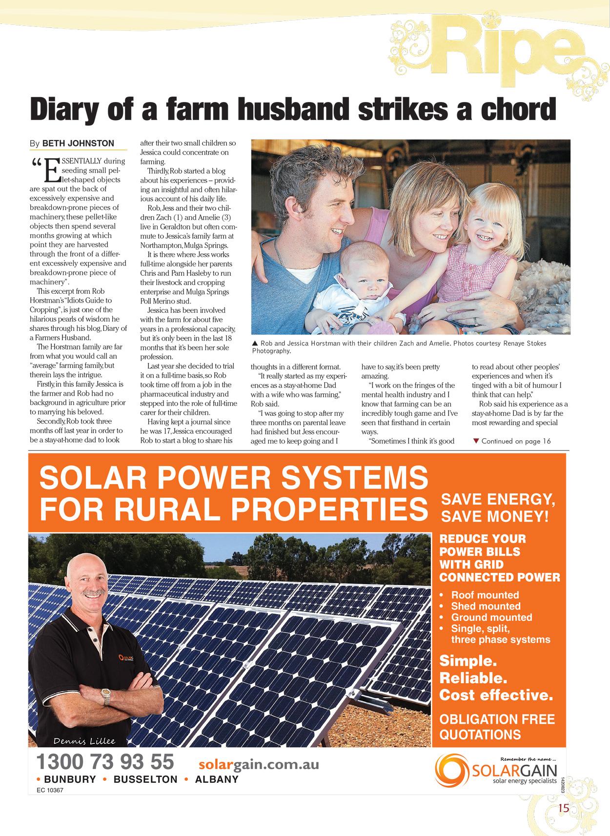Ripe magazine story about Rob